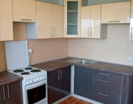Комбинированная кухня из пластика KP-336