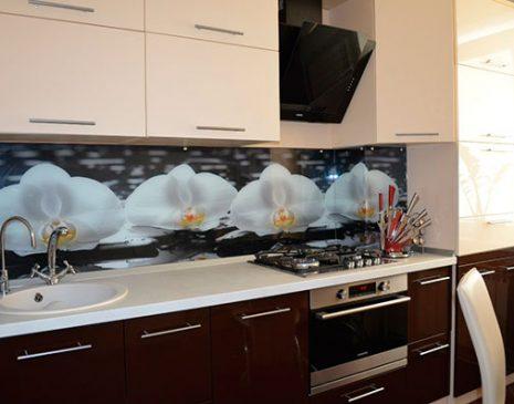 Глянцевая кухня с рисунком GK-342