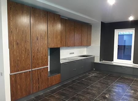 Кухня в классическом стиле под дерево KK-416