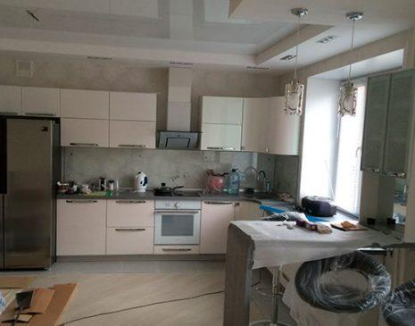 МДФ кухня в светлых тонах MDF-362