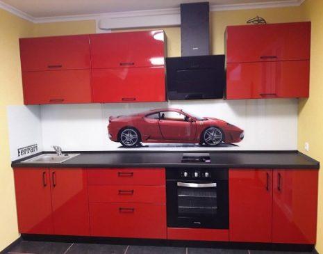 Кухня из эмали с рисунком Ferrari KE-472