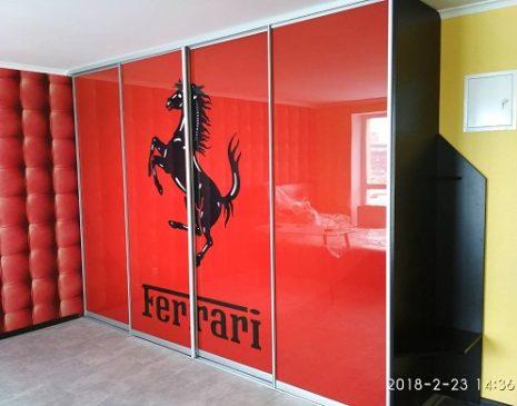 Шкаф купе с рисунком Ferrari SHKF-473
