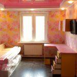 Детская модульная мебель в розовых тонах