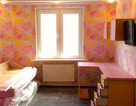 Детская модульная мебель в розовых тонах DMM-435