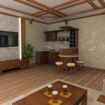гостиная с дизайном