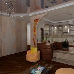 гостиная комната с дизайном