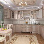 дизайнерская деревянная кухня